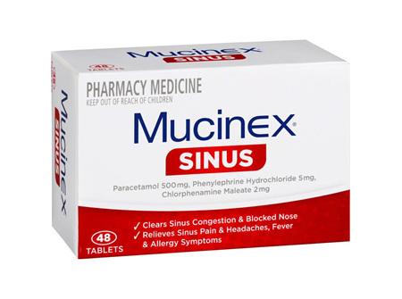 Mucinex Sinus 48 Tablets