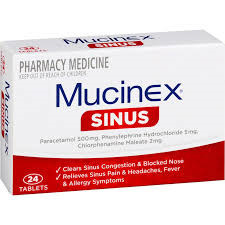 MUCINEX SINUS TABLETS 24
