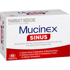 MUCINEX SINUS TABLETS 48