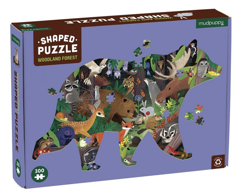 Mudpuppy 300 piece shaped puzzle Woodland Forest buy at www.puzzlesnz.co.nz