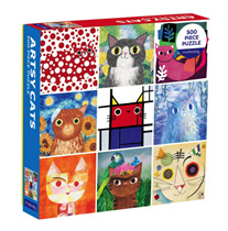 Mudpuppy 500 Piece Jigsaw Puzzle: Artsy Cats