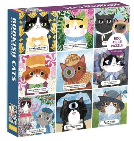 Mudpuppy 500 Piece Jigsaw Puzzle: Bookish Cats