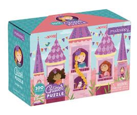 Mudpuppy Princess Glitter Puzzle