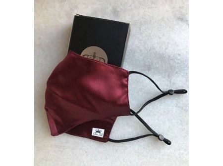 Mulberry Silk Double Layered Mask Burgundy