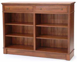 Mulhouse Bookcase Low with Two Drawers