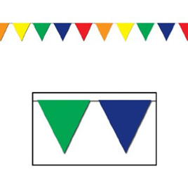 Multi Colour Outdoor Pennant Banner 30ft