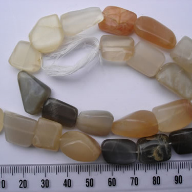 Multi Coloured Moonstone Strands