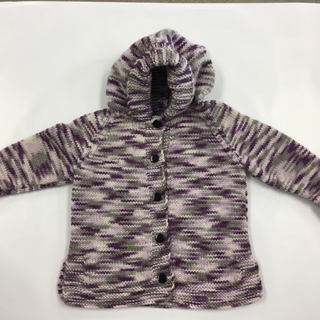 Multi Coloured Pure Wool Knitted Cardigan - 1-2 Years