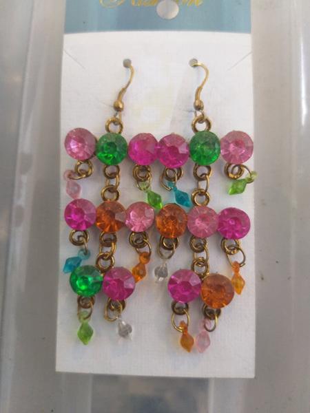 Multi-Jewel Drop Earrings
