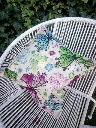 Multicoloured Butterfly Cushion Cover