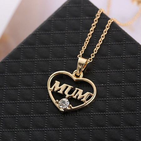 MUM Heart Necklace - GOLD