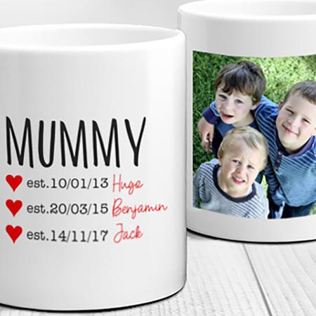 Mummy Established Each Child Personalised Mug