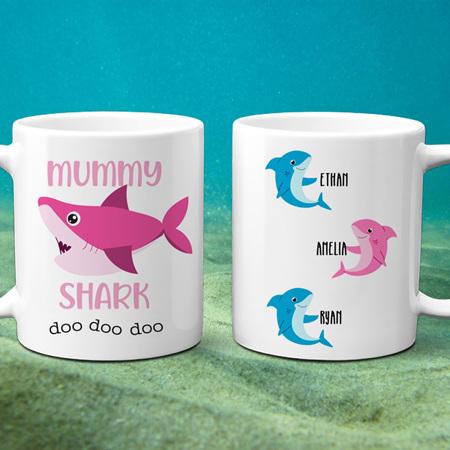 Mummy Shark Personalised Mug