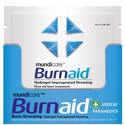 Mundicare Burnaid Dressing 10cm x 10cm