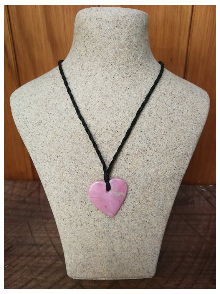 Murihiku Pounamu Rhodanite Heart Small by Gavin Thomson