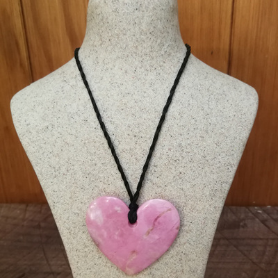 Murihiku Pounamu Rhodonite Heart by Gavin Thomson