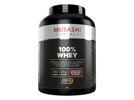 Musashi 100% Whey Choc Milkshake 2kg