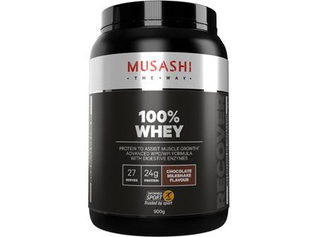 Musashi 100% Whey Choc Milkshake 900g
