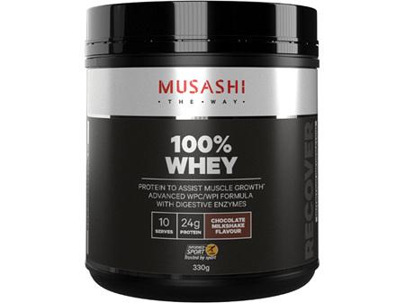 Musashi 100% Whey Choc Milkshake330g