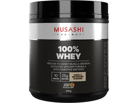 Musashi 100% Whey Vanilla Milkshake 330g
