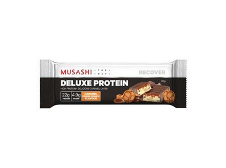 Musashi Deluxe Protein Bar Caramel Cookie 60g