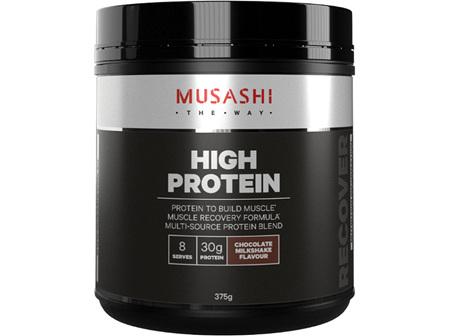 Musashi High Protein Choc Milkshake 375g