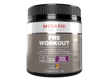 Musashi Pre Workout Grape 225g