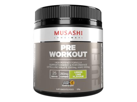 Musashi Pre Workout Lemon Lime 225g