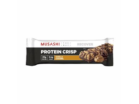 Musashi Protein Crisp Bar Vanilla Caramel 60g