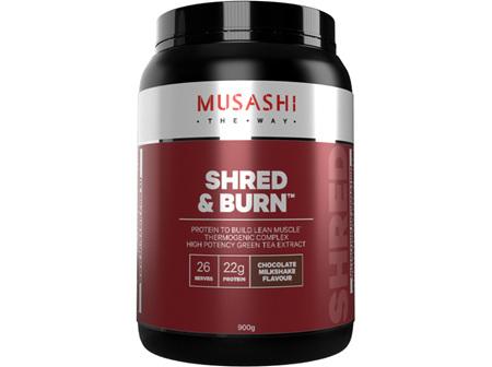 Musashi Shred & Burn Choc Milkshake 900g