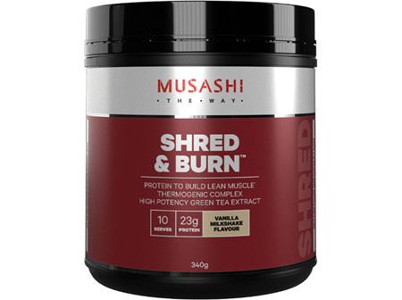 Musashi Shred & Burn Vanilla Milkshake 340g