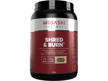 Musashi Shred & Burn Vanilla Milkshake 900g