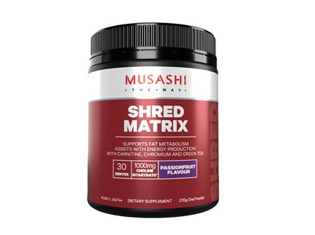 Musashi Shred Matrix Passionfruit 270g