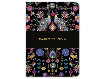 Museums & Galleries A5 Luxury Notebook Pampas Peacock by Matthew Williamson