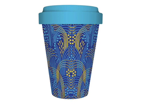 Museums & Galleries Bamboo Travel Mug Fireworks