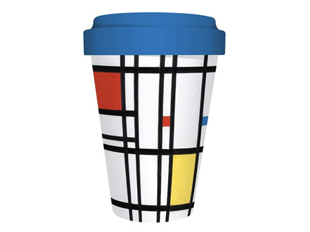 Museums & Galleries Bamboo Travel Mug Yellow Blue Red
