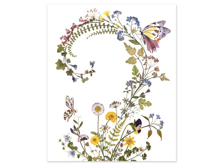 Museums & Galleries Card Floral Swirl