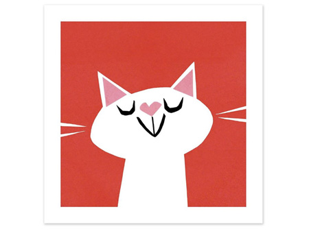 Museums & Galleries Card Love Cat