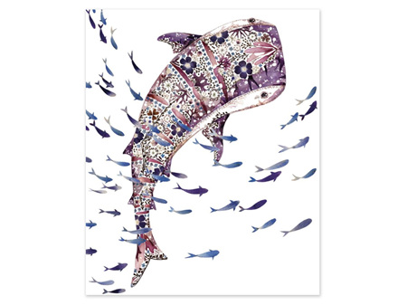 Museums & Galleries Card Whale Shark and Shoal