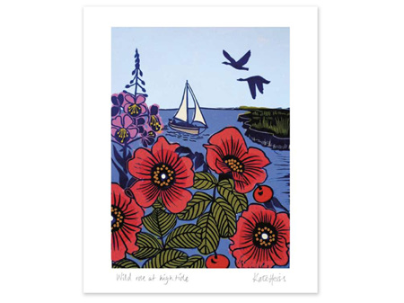 Museums & Galleries Card Wild Rose at High Tide
