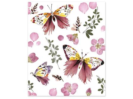 Museums & Galleries Card Wildflower Butterflies