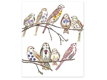 Museums & Galleries Card Wildflower Sparrows