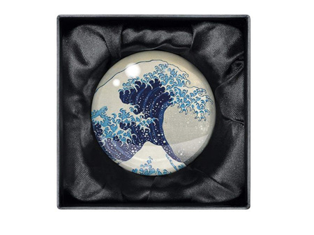 Museums & Galleries Crystal Paperweight Hokusai Wave