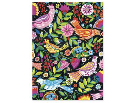 Museums & Galleries Folk Birds Card