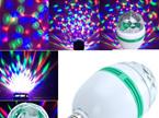 Music Activated E27 3W RGB Rotating  LED Disco Light Bulb