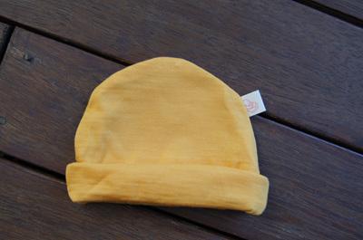 'Mustard' 100% NZ Merino Beanie, 0-3 mths