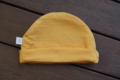 'Mustard' 100% NZ Merino Beanie, 3-6 months