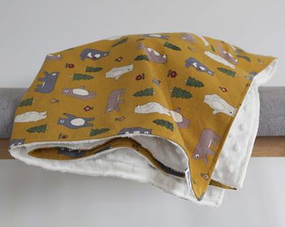 Mustard Bears Blanket