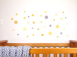 Mustard Yellow dots wall decal