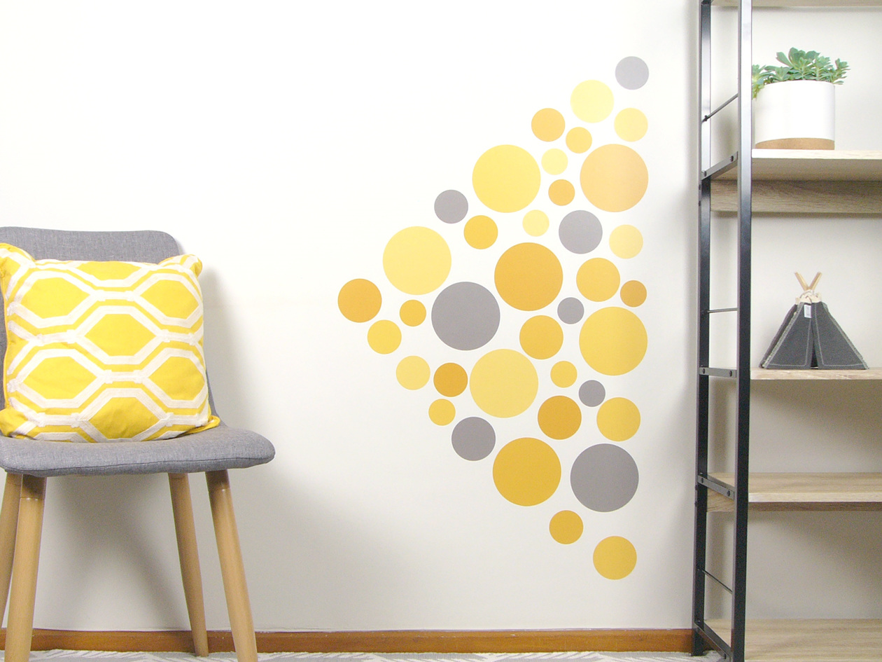 Funky Polka Dot Wall Art Crest - Wall Art Collections ...